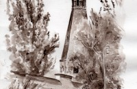Вид на Симонов Монастырь. Синявин Константин